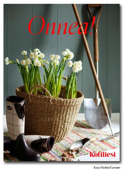 Lähetä keväisen kukkainen onnittelukortti e-korttina