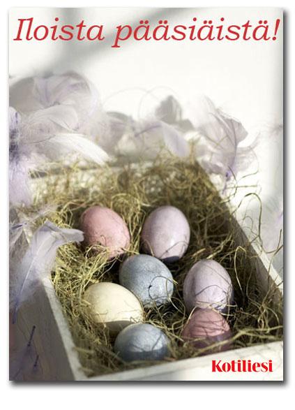 Lähetä Iloista pääsiäistä -tervehdys e-korttina