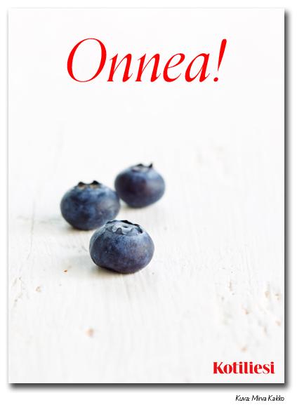 Lähetä onnittelut mustikkaisella Kotilieden e-kortilla!
