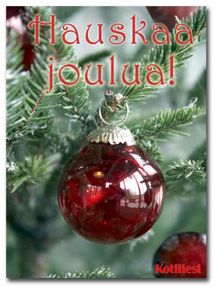 Jouluinen Hauskaa joulua -joulukortti e-korttina