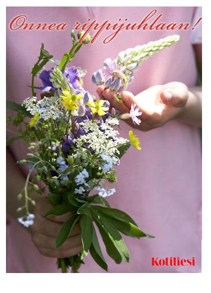 Kesäinen luonnonkukkakimppu: Lähetä Onnea rippijuhlaan -onnittelukortti e-korttina