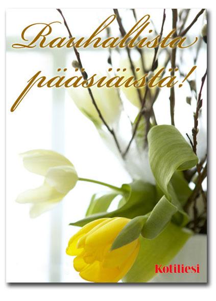 Lähetä tulppaanikortti Iloista pääsiäistä sähköisenä