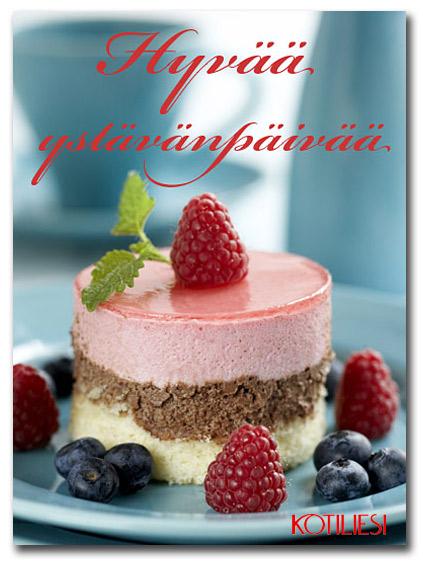 Hyvää ystävänpäivää! Lähetä sähköinen leivos e-korttina!