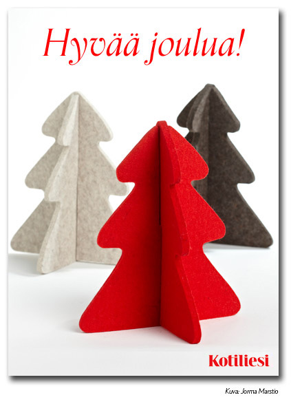 Huopakuuset. Lähetä Hyvää joulua -kortti e-korttina