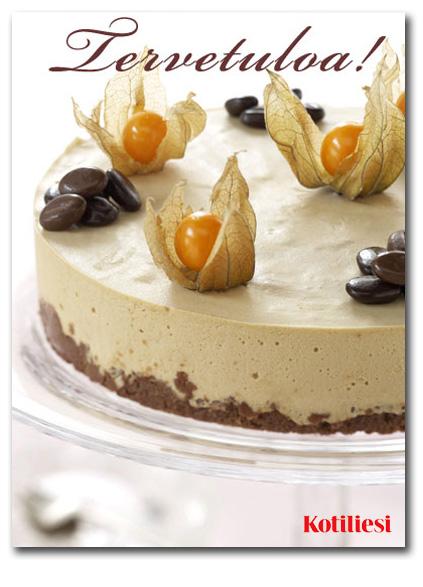 Kaunis kakku. Kutsukortti sähköisenä e-korttina
