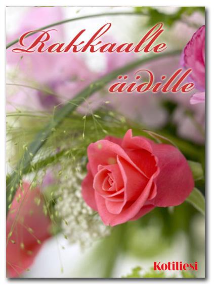 Rakkaalle äidille e-kortti ruusukuvalla