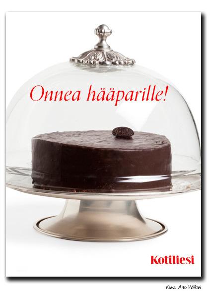 Ihana suklaakakku. Lähetä Onnea hääparille -kortti Kotilieden e-korttina