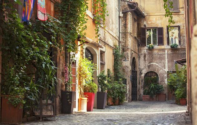 Rooma Trasteveren korttelit