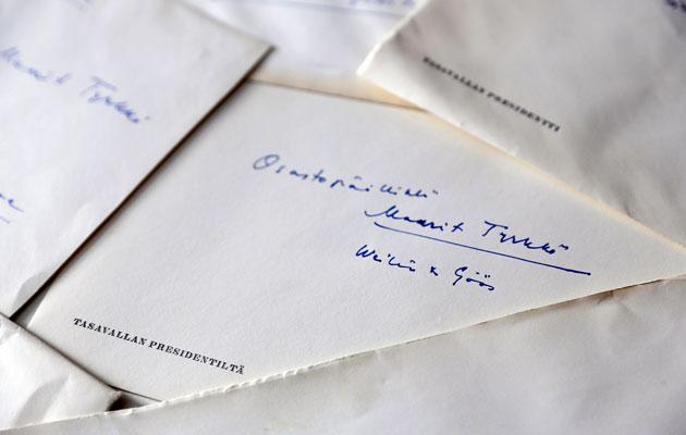Presidentti Kekkosen kirje Maarit Tyrkölle