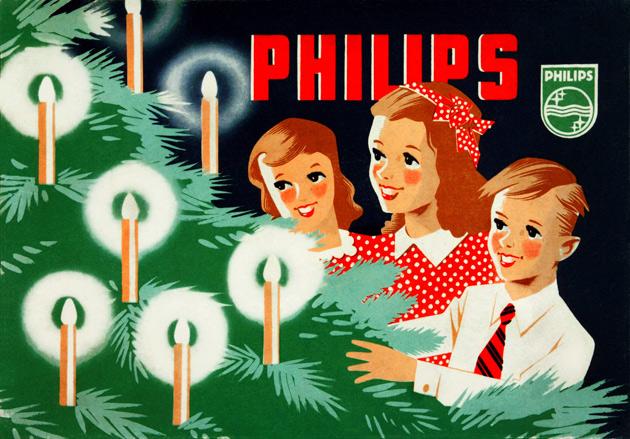 Joulukuusen historia on myös sähkövalon historiaa. Kirkkaina loistavat lasten silmät ja joulukuusen valot olivat tehokas mainos jouluvaloille.