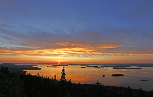 Kolin kansallispuiston auringonnousu