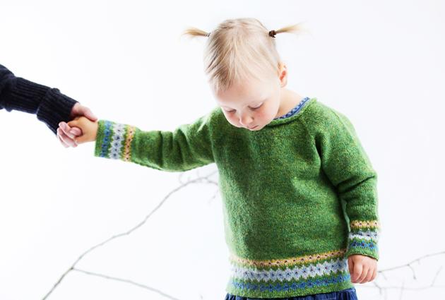 Lapsen neulepusero Fair Isle -tyyliin