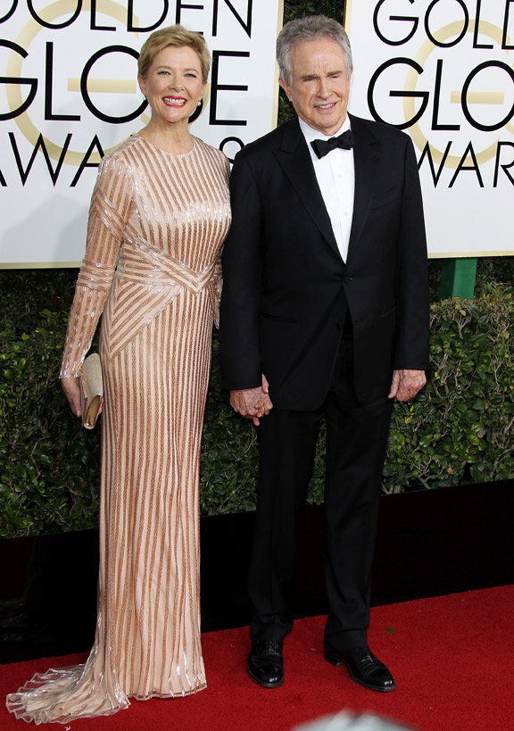 Annette Bening ja Warren Beatty Golden Globe 2017