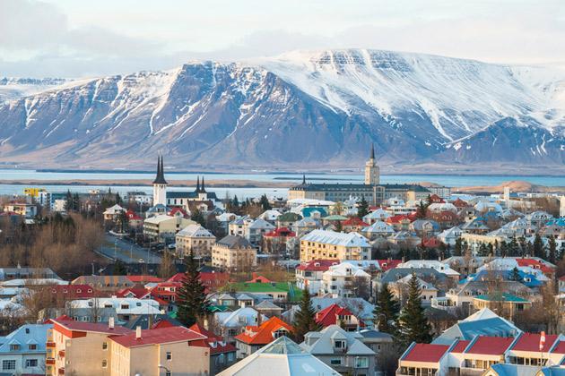 kaupunkikuva islannista