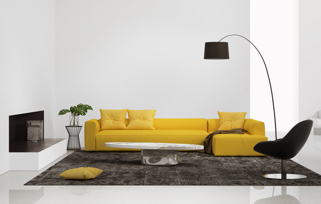 keltainen sohva