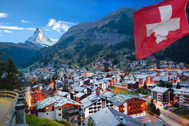 Sveitsi tunnetaan myös Alppimaana