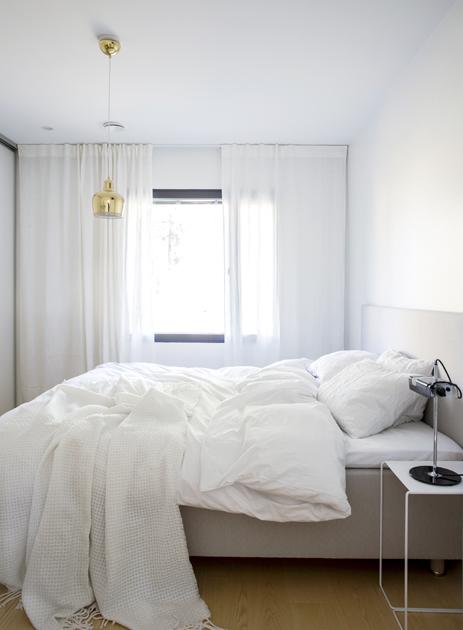 Makuuhuone ennen ja jälkeen