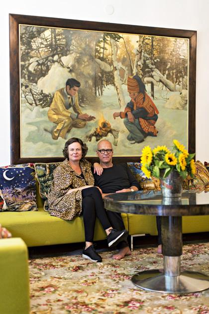 Kirjailija Markku Rönkkö ja vaimo Minna Rönkkö