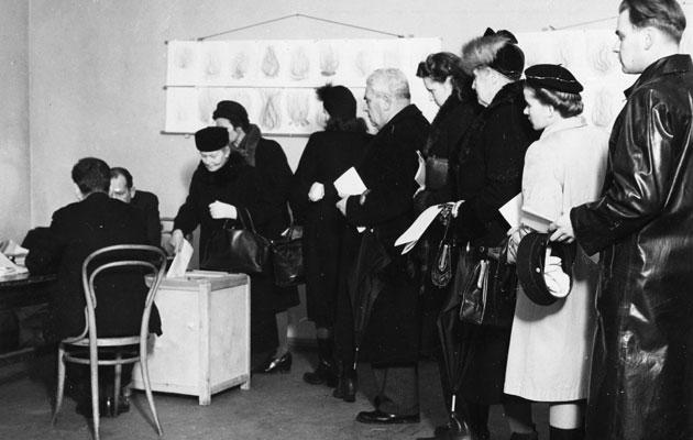 Vaaleissa äänestettiin 1950-luvulla
