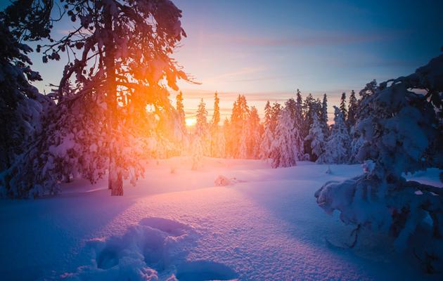 Rovaniemen luminen maisema