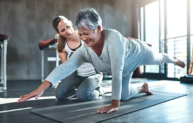60-vuotiaan naisen on hyvä huolehtia selän lihaksistosta