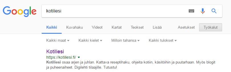 google haku ohje yläpalkki
