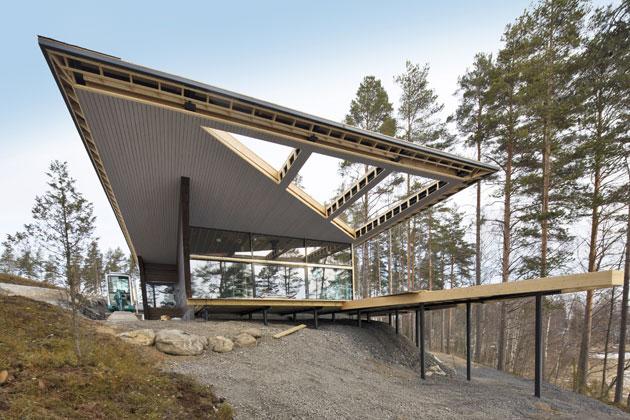 arkkitehtoninen talo puusta