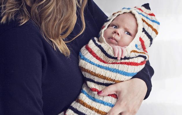 Vauvan makuupussin neuleohje