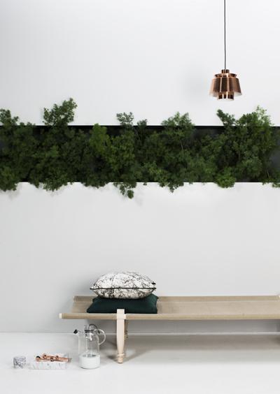 viherkasvit, puu ja kupari ovat täydellinen yhdistelmä