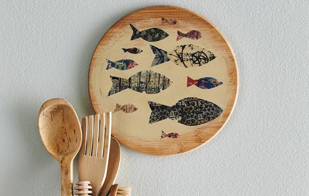 Hauska kalateemainen leikkuulauta