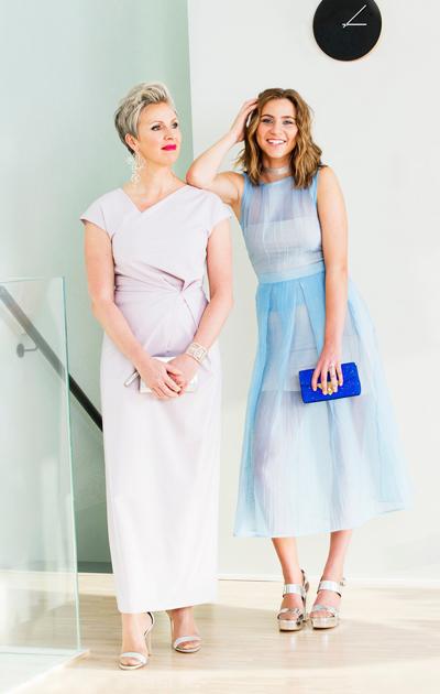 Juhlava pukeutuminen äidillä ja tyttärellä
