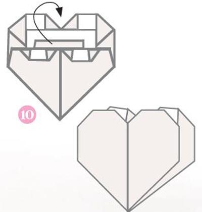 origami 10 ja valmis origami