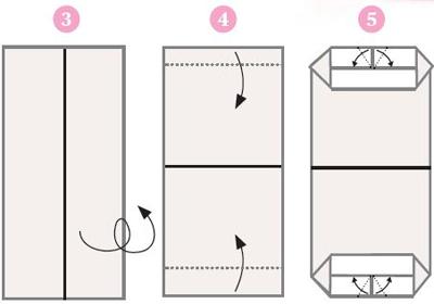 Origami ohje 3, 4 & 5
