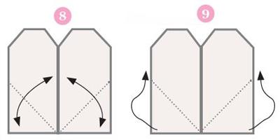Origami ohje 8 & 9