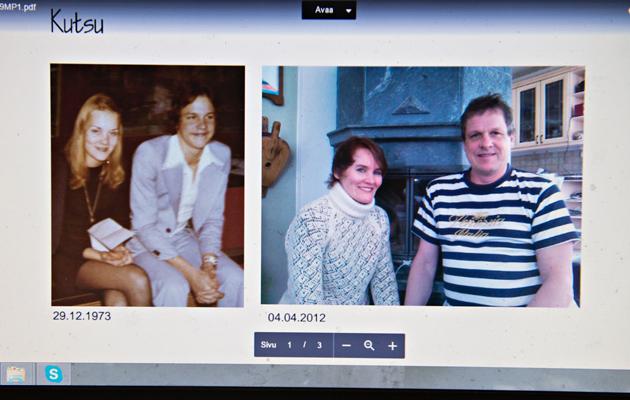 Pertti ja Marit nuorena ja nyt aikuisena