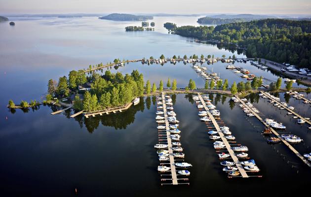 Lahti: ilmakuva Niemen satamasta