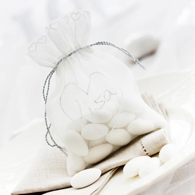 Valmista häävieraille makeispussukka organzasta