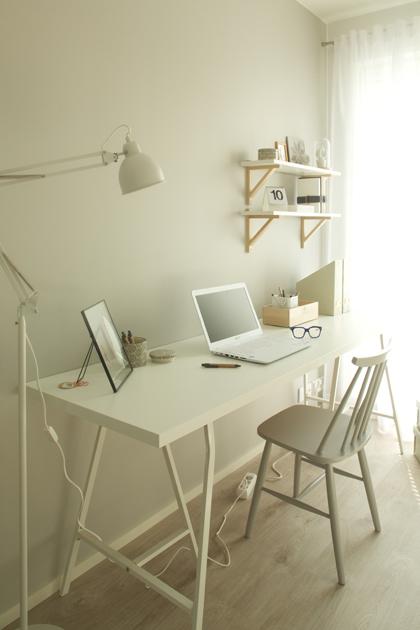 Työpöytä pukkijaloilla