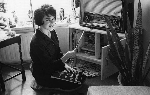 Pirkko Mannola kuunteli radiota 1960-luvulla