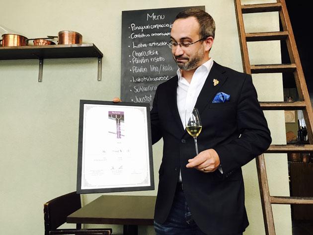 Ravintola Muru voitti arvostelun viinialan palkinnon.