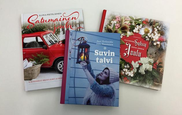 Arvomme joulukirjoja Suomen ihanin kylä -äänestyspalkintona.
