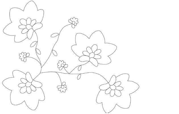 Kirjaillun huivin kukkaohje