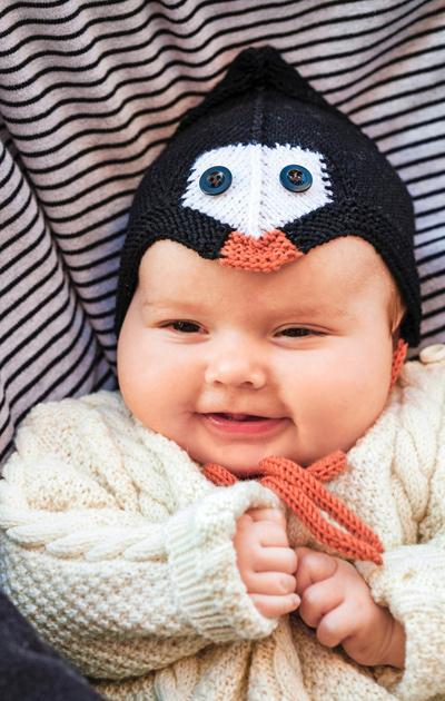 Pingviinimyssy vauvalle
