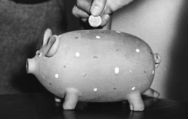vanha säästöpossu