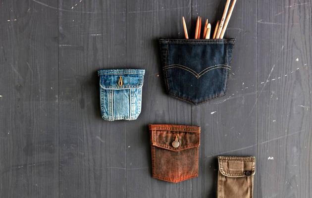 Hyödynnä vanhojen housujen taskut