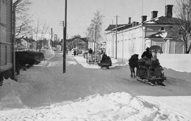 Hangon evakuointia vuonna 1940