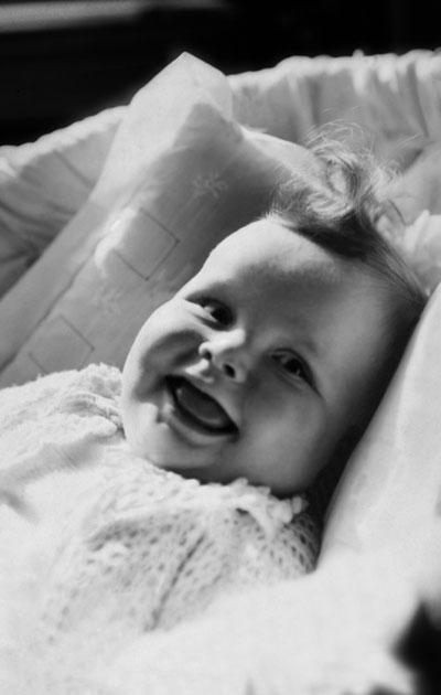 Vauva vuonna 1945.