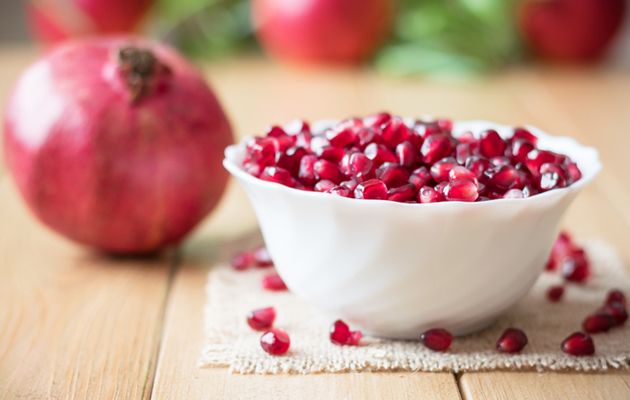 granaattiomena ja siemenet