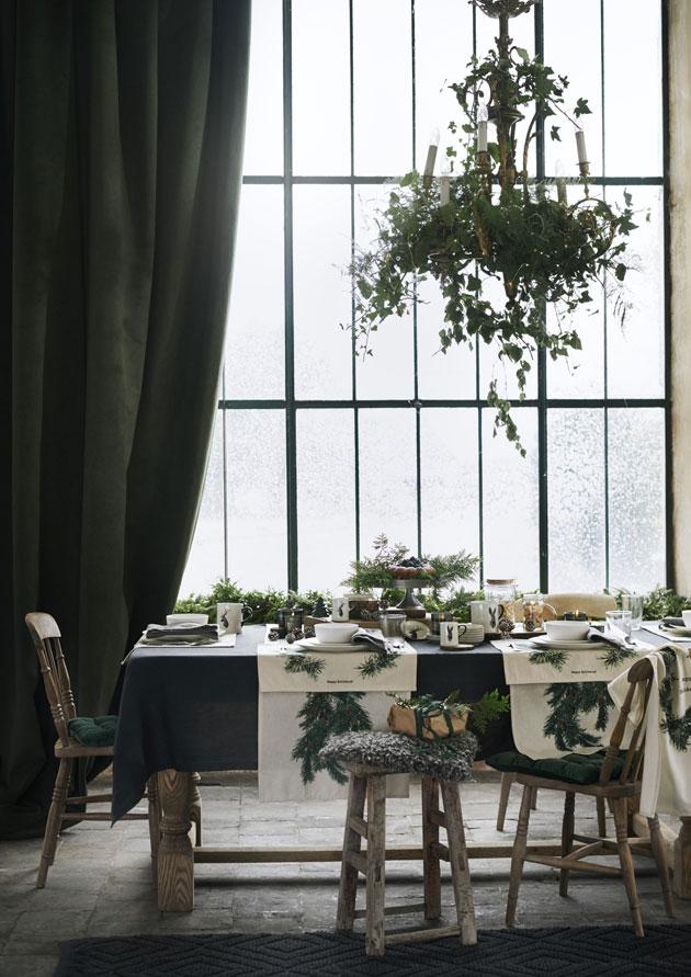 vihreavalkoinen joulukattaus