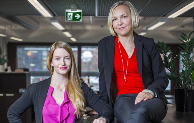 Laura Kyllönen (vas.) ja Suvi Haimi perustivat Sulapacin.
